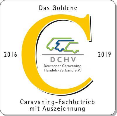 Das Goldene C 2016-2019: Caravaning-Fachbetrieb mit Auszeichnung